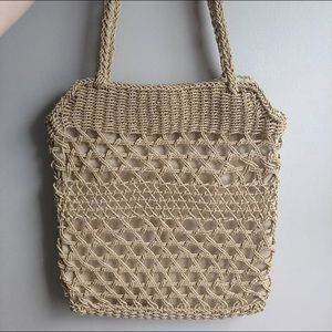 Vintage 1990s Woven Rope Tote Bag